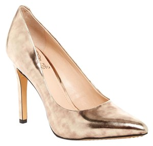 Vince Camuto Stilletto Antique Bronze Leather Pumps