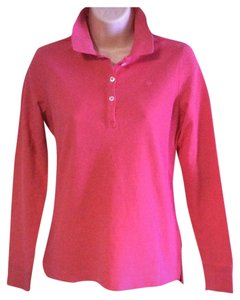 Lilly Pulitzer Cute And Classic Dark Pink Long Sleeve Cotton Polo By Lilly Pulitzer. Size Small Perfect Condition Sweater