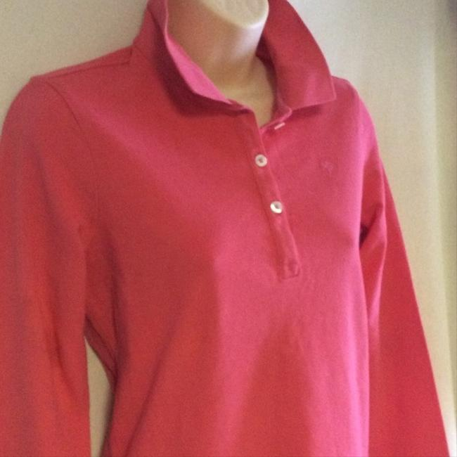 Lilly Pulitzer Cute And Classic Dark Pink Long Sleeve Cotton Polo By Size Small Perfect Condition Sweater Image 1