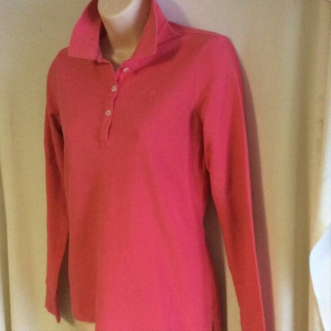 Lilly Pulitzer Cute And Classic Dark Pink Long Sleeve Cotton Polo By Size Small Perfect Condition Sweater Image 2