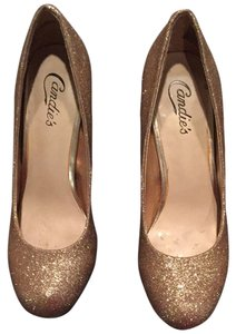Candies Gold Glitter Pumps