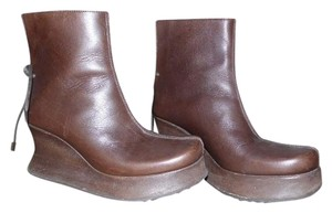 Clone Wedge Italy brown Boots