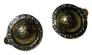 BUY 2 Get 1 Pair Free CLIP ON EARRINGS Gold Colored Round E805