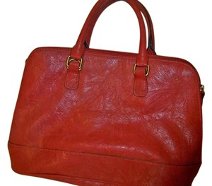 Bueno Collection Satchel in rust color