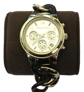 Michael Kors Womens Michael Kors Tortoise Shell Chain Link Chronograph Watch