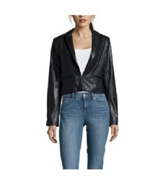 Adrianna Papell BLACK Leather Jacket