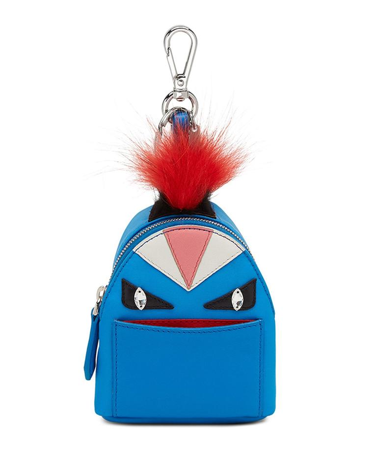 Fendi Monster Charm Key Chain Blue Leather Nylon Backpack - Tradesy 681ad261dc89b