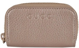 Gucci NEW Gucci 324801 Golden Beige Leather Mini Zip Around Coin Purse