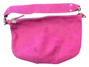 Clare V. 100% Suede Leather Fuschia Hobo Bag