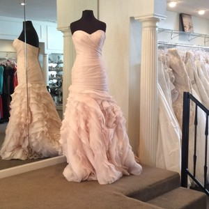 Sottero and Midgley Blush Tulle/Organza Modern Wedding Dress Size 4 (S)
