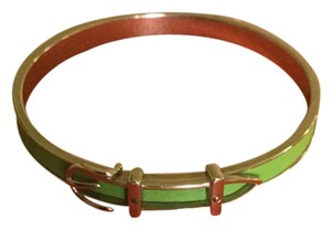 Hermès Belt Buckle Bracelet With Leather