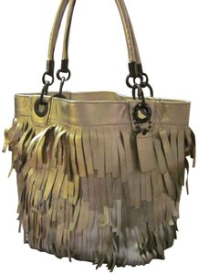 Coach Gold Silver Fringe Ombre Tote in Gold Ombre