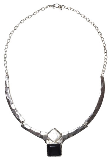 Preload https://item2.tradesy.com/images/silver-black-silver-amber-silver-blue-modern-femme-warrior-pendant-pewter-necklace-17530351-0-3.jpg?width=440&height=440