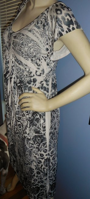 Unity World Wear short dress batik blues No Iron Pl Empire Waist Embleshments on Tradesy