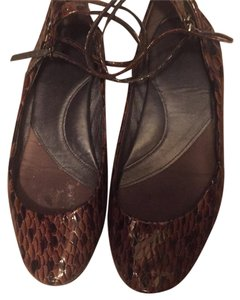 Nine West Brown black pattern Flats