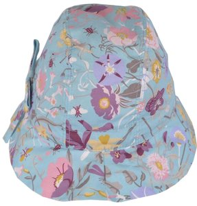 Gucci NEW Gucci Kids Girl's 372119 Aqua Flora Flora Canvas Bucket Fedora Hat L