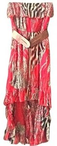 Red animal multi Maxi Dress by Love Culture