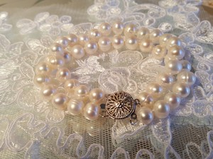 Bridal Double Strand Fresh Water Pearl Bracelet