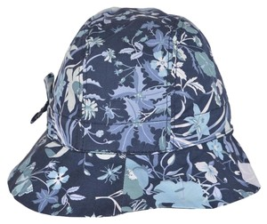 Gucci NEW Gucci Kids Girl's 372119 Flora Flora Canvas Bucket Fedora Hat Small