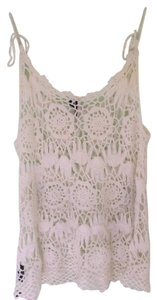 Topshop short dress White Crotchet Floral Summer on Tradesy