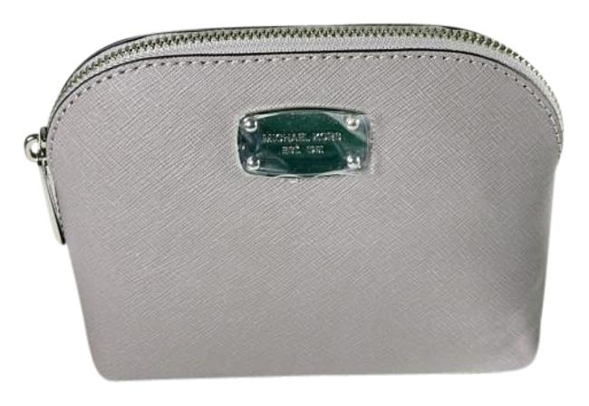 Item - Pearl Grey Cindy Travel Pouch Saffiano Leather Cosmetic Bag