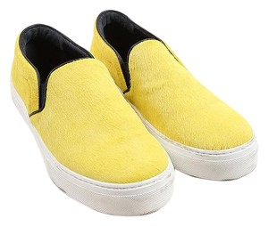 Cline Celine Sneakers Pony Hair Yellow Flats