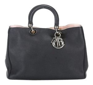 Dior Leather Diorissimo Tote in Black