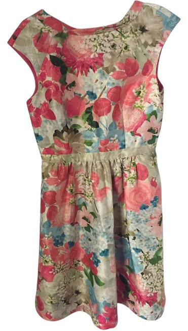 Item - Pink Multi Above Knee Cocktail Dress Size 6 (S)
