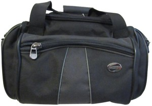 American Tourister Makeup Luggage Carry On Black w/ Gray Travel Bag