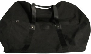 Kenneth Cole Duffle Coated Interior Canvas Black Travel Bag