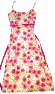 White and Hot Pink Maxi Dress by Coldwater Creek