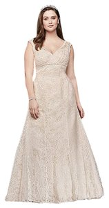David's Bridal Ivory Lace Vintage Wedding Dress Size 20 (Plus 1x)