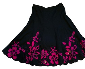 Sunny Leigh Skirt Black and hot pink