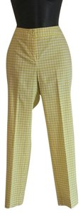 J.McLaughlin J Ankle Lenght Checked Straight Pants lemon lime