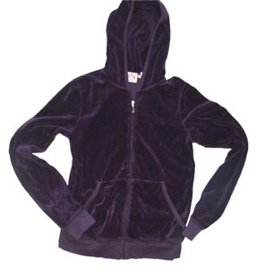 Juicy Couture JUICY COUTURE VELOUR HOODIE PURPLE LARGE