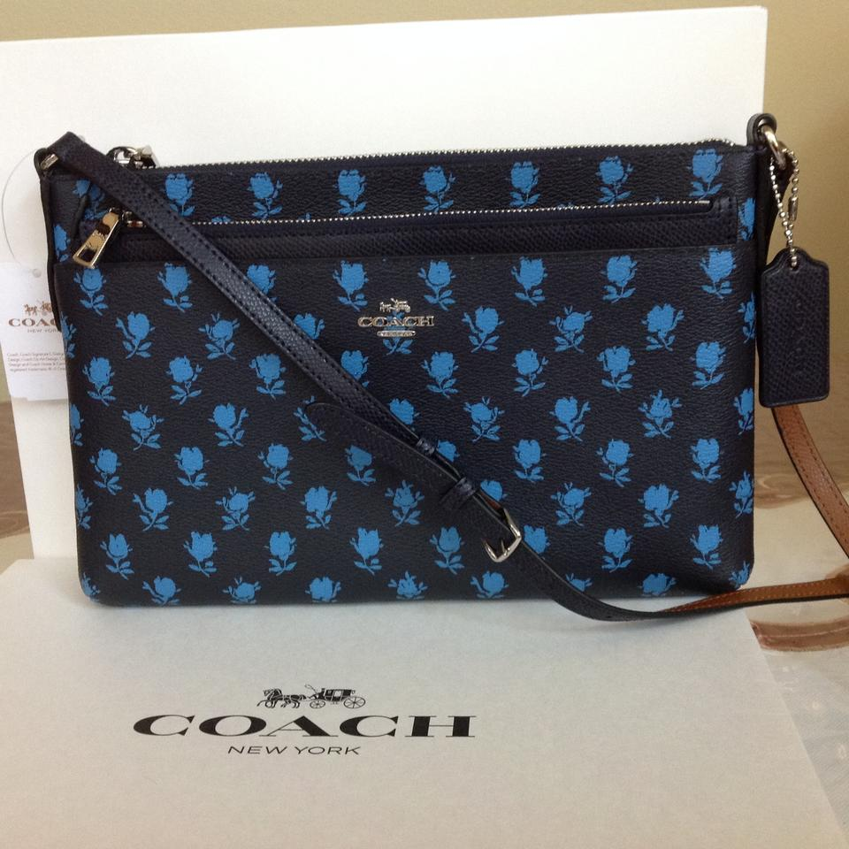 a1e9f6bcf Coach F38159 Badlands Floral with Pop Up Pouch Midnight Multi ...