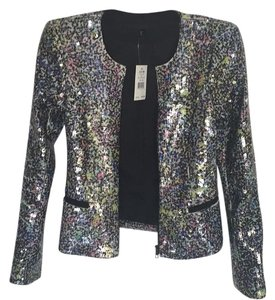 JOE'S Black with multi-colored sequins. Blazer