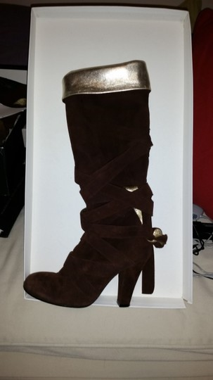 Marc Jacobs Gold Liner Brown Boots