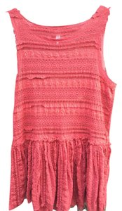 Free People Lace Intimately Top Orange/Red