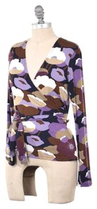 Boden Soft Stretchy Floral Top Purple