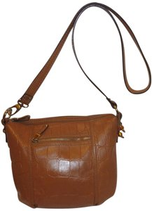 Tignanello Refurbished Leather Brown Cross Body Bag
