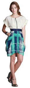 Tracy Reese short dress Brush Stroke Plaid Print Contrast Pockets Zipper Summer on Tradesy