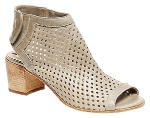 Steve Madden Perforated Leather Grey Open Toe Grey Leather Boots