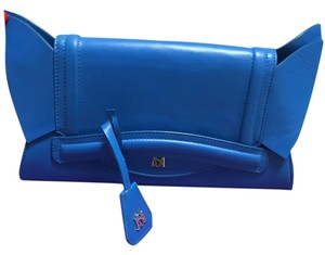 Safi Miran Leather Colorful Blue Clutch