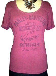 Harley Davidson Genuine T Shirt Burgundy