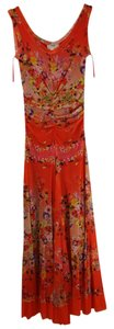 Orange Floral Maxi Dress by Fuzzi Maxi