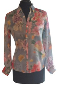 Ralph Lauren Black Label Silk Top blue floral