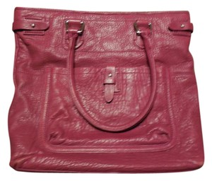 Cole Haan Leather Tote in Berry