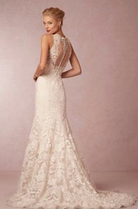 BHLDN Ivory Embroidered Nylon Organza; Polyester Lining Adalynn Gown Traditional Wedding Dress Size 4 (S)