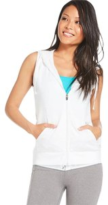 Fabletics White Sleeveless Hoodie